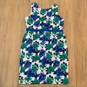 Janie & Jack | Blue & Green Floral Sheath Dress
